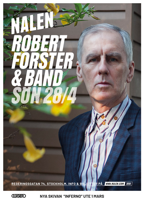 Robert Forster European Tour 2019 poster