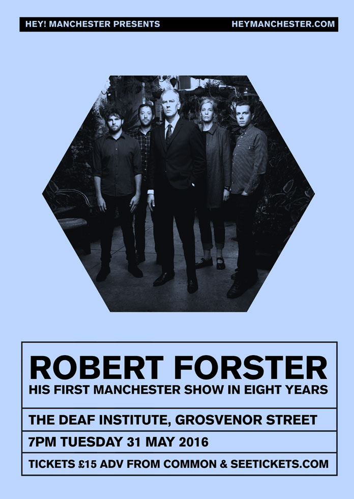 Robert Forster live in Manchester poster